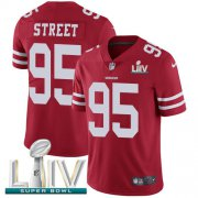 Wholesale Cheap Nike 49ers #95 Kentavius Street Red Super Bowl LIV 2020 Team Color Youth Stitched NFL Vapor Untouchable Limited Jersey