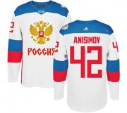 Wholesale Cheap Team Russia #42 Artem Anisimov White 2016 World Cup Stitched NHL Jersey