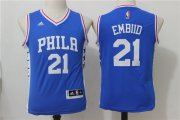 Cheap Youth Philadelphia 76ers #21 Joel Embiid NEW White Stitched NBA Adidas Swingman Jersey