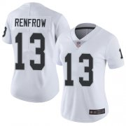 Wholesale Cheap Nike Raiders #13 Hunter Renfrow White Women's Stitched NFL Vapor Untouchable Limited Jersey