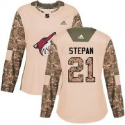 Wholesale Cheap Adidas Coyotes #21 Derek Stepan Camo Authentic 2017 Veterans Day Women's Stitched NHL Jersey