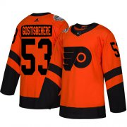 Wholesale Cheap Adidas Flyers #53 Shayne Gostisbehere Orange Authentic 2019 Stadium Series Women's Stitched NHL Jersey