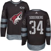 Wholesale Cheap Adidas Coyotes #34 Carl Soderberg Black 1917-2017 100th Anniversary Stitched NHL Jersey