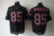 Wholesale Cheap Sideline Black United Patriots #85 Chad Ochocinco Black Stitched NFL Jersey