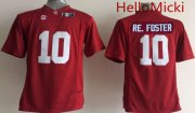Wholesale Cheap Men's Alabama Crimson Tide #10 Reuben Foster Red 2016 BCS College Football Nike Limited Jersey