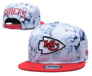 Wholesale Cheap Chiefs Team Logo Smoke Red Adjustable Hat TX