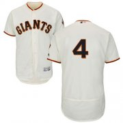 Wholesale Cheap Giants #4 Mel Ott Cream Flexbase Authentic Collection Stitched MLB Jersey