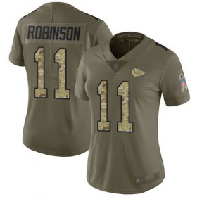 Wholesale Cheap Nike Chiefs #11 Demarcus Robinson Olive/Camo Women\'s Stitched NFL Limited 2017 Salute to Service Jersey