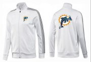 Wholesale Cheap NFL Miami Dolphins Team Logo Jacket White_3