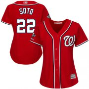 Wholesale Cheap Nationals #22 Juan Soto Red Alternate 2019 World Series Champions Women's Stitched MLB Jersey
