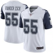 Wholesale Cheap Nike Cowboys #55 Leighton Vander Esch White Men's Stitched NFL Limited Rush Jersey