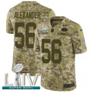 Wholesale Cheap Nike 49ers #56 Kwon Alexander Camo Super Bowl LIV 2020 Men's Stitched NFL Limited 2018 Salute To Service Jersey