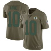 Wholesale Cheap Nike Packers #10 Jordan Love Olive Youth Stitched NFL Limited 2017 Salute To Service Jersey