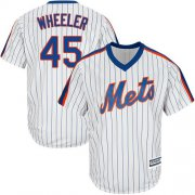 Wholesale Cheap Mets #45 Zack Wheeler White(Blue Strip) Alternate Cool Base Stitched Youth MLB Jersey