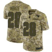 Wholesale Cheap Nike Patriots #28 James White Camo Men's Stitched NFL Limited 2018 Salute To Service Jersey