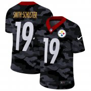 Cheap Pittsburgh Steelers #19 JuJu Smith-Schuster Men's Nike 2020 Black CAMO Vapor Untouchable Limited Stitched NFL Jersey