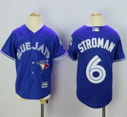 Wholesale Cheap Blue Jays #6 Marcus Stroman Blue Cool Base Stitched Youth MLB Jersey