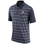 Wholesale Cheap Men's Atlanta Braves Nike Navy Dri-FIT Stripe Polo