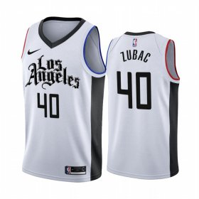 Wholesale Cheap Nike Clippers #40 Ivica Zubac 2019-20 White Los Angeles City Edition NBA Jersey
