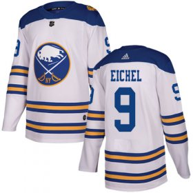 Wholesale Cheap Adidas Sabres #9 Jack Eichel White Authentic 2018 Winter Classic Stitched NHL Jersey