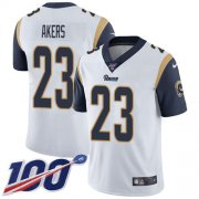 Wholesale Cheap Nike Rams #23 Cam Akers White Youth Stitched NFL 100th Season Vapor Untouchable Limited Jersey