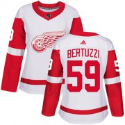 Wholesale Cheap Adidas Red Wings #59 Tyler Bertuzzi White Road Authentic Women's Stitched NHL Jersey