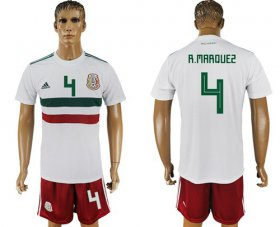 Wholesale Cheap Mexico #4 R.Marquez Away Soccer Country Jersey