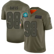 Wholesale Cheap Nike Dolphins #98 Raekwon Davis Camo Men's Stitched NFL Limited 2019 Salute To Service Jersey