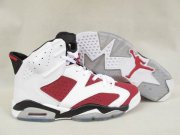 Wholesale Cheap Air Jordan 6 Carmine Shoes white/red-black