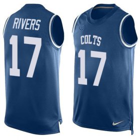Wholesale Cheap Nike Colts #17 Philip Rivers Royal Blue Team Color Men\'s Stitched NFL Limited Tank Top Jersey