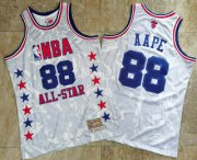 Wholesale Cheap 1988 All-Star AAPE x MITCHELL & NESS White Jersey