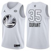Wholesale Cheap Warriors 35 Kevin Durant Jordan Brand White 2018 All-Star Game Swingman Jersey