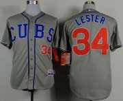Wholesale Cheap Cubs #34 Jon Lester Grey Cool Base Stitched MLB Jersey
