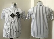 Wholesale Cheap White Sox Blank White(Black Strip) Cool Base Stitched Youth MLB Jersey