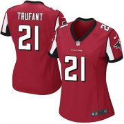 Wholesale Cheap Nike Falcons #21 Desmond Trufant Red Team Color Women's Stitched NFL Elite Jersey