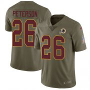Wholesale Cheap Nike Redskins #26 Adrian Peterson Olive Men's Stitched NFL Limited 2017 Salute To Service Jersey