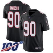 Wholesale Cheap Nike Falcons #90 Marlon Davidson Black Alternate Men's Stitched NFL 100th Season Vapor Untouchable Limited Jersey