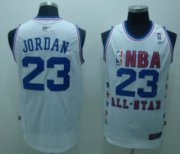 Wholesale Cheap NBA 2003 All-Star #23 Michael Jordan White Swingman Throwback Jersey