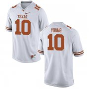 Wholesale Cheap Men's Texas Longhorns 10 Vince Young White Nike College Jersey