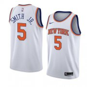 Wholesale Cheap Nike Knicks #5 Dennis Smith Jr. White NBA Swingman Association Edition Jersey