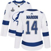 Cheap Adidas Lightning #14 Pat Maroon White Road Authentic Women's 2020 Stanley Cup Champions Stitched NHL Jersey