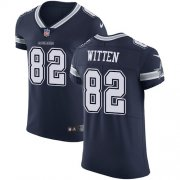 Wholesale Cheap Nike Cowboys #82 Jason Witten Navy Blue Team Color Men's Stitched NFL Vapor Untouchable Elite Jersey
