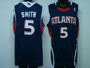 Wholesale Cheap Atlanta Hawks #5 Josh Smith Blue Swingman Jersey