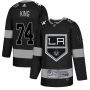 Wholesale Cheap Adidas Kings X Dodgers #74 Dwight King Black Authentic City Joint Name Stitched NHL Jersey