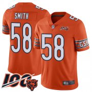 Wholesale Cheap Nike Bears #58 Roquan Smith Orange Youth Stitched NFL Limited Rush 100th Season Jersey