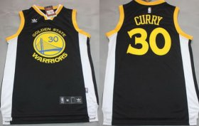 Wholesale Cheap Golden State Warriors #30 Stephen Curry Hardwood Classic Swingman Black Jersey