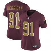 Wholesale Cheap Nike Redskins #91 Ryan Kerrigan Burgundy Red Alternate Women's Stitched NFL Vapor Untouchable Limited Jersey