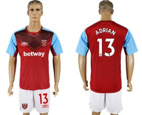 Wholesale Cheap West Ham United #13 Adrian Home Soccer Club Jersey