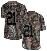 Wholesale Cheap Nike Cowboys #21 Deion Sanders Camo Youth Stitched NFL Limited Rush Realtree Jersey