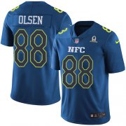 Wholesale Cheap Nike Panthers #88 Greg Olsen Navy Men's Stitched NFL Limited NFC 2017 Pro Bowl Jersey